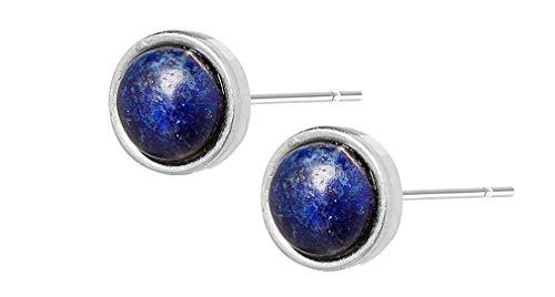 Sence Copenhagen Damen Ohrstecker Silber aus der Freedom Song Serie mit blauem Quartz Messing versilbert - K035