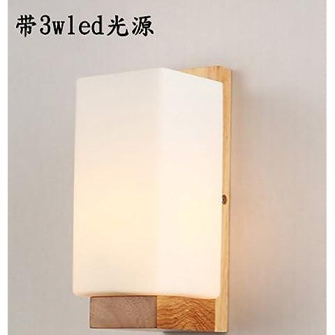 SJUN—Stile Giapponese Parete Lampada Lampada Da Comodino Legno Massello Moderno Semplice Camera Salotto Creativo Da Ingresso In Legno,B