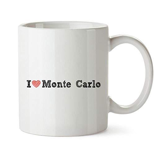 Monte-carlo-becher (Idakoos I Love Monte Carlo Sketch Style Becher Keramik 11 unzen)