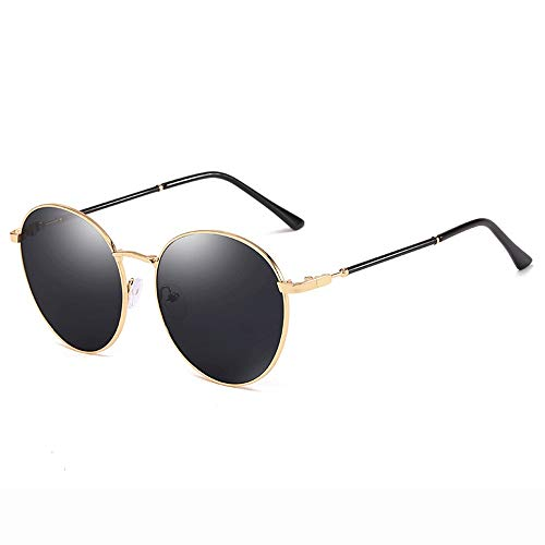 Yiph-Sunglass Sonnenbrillen Mode Sonnenbrillen Fashion Color Mirror Lens 100% UV Schutz Sonnenbrillen (Farbe : Schwarz, Größe : Casual Size)