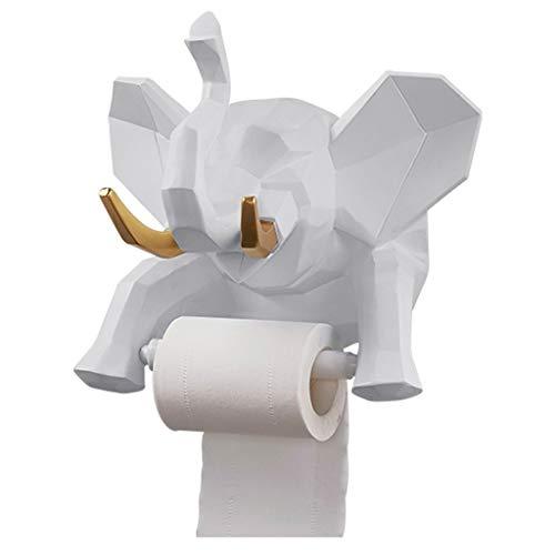 lefant Papier Handtuchhalter Kreative Rollenpapierhalter Perfekte Wanddekoration Statue für Wohnzimmer Badezimmer Schlafzimmer (Color : White) ()