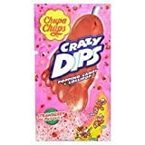 Chupa Chups Crazy Dips Popping Candy & Strawberry Lollipop 14G