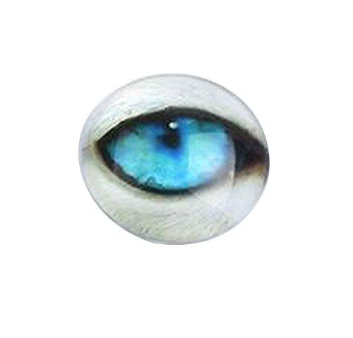 Black Temptation Set von 16 Glas gefälschte Augen Craft Eyes Puppe Augen DIY Zubehör [A]