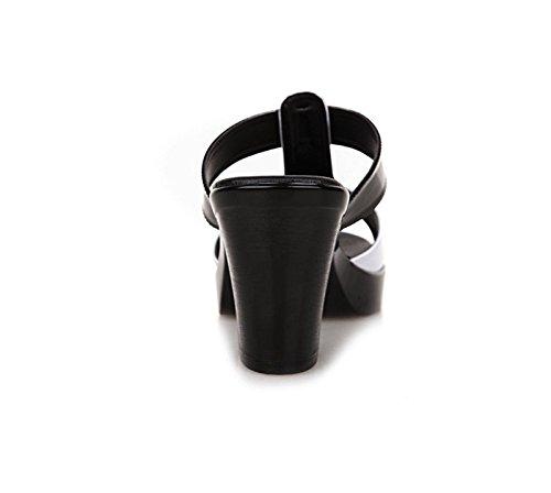Sfsyddy-été Pantoufles Épaisses D'épaisseur De 7.5cm D'été Avec Les Chaussures Fortes De Pantoufles De Mère Avec La Cale De Loisirs Imperméable À L'eau. 38 Quarante
