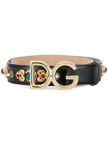 Dolce E Gabbana Cintura Donna Be1328az1078s070 Pelle Nero