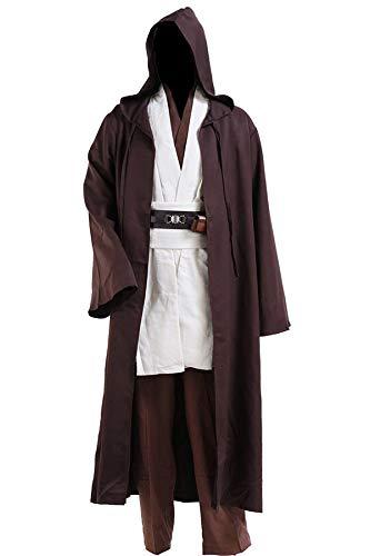 Kostüm Einfach Wan Obi - Yoda Jedi Obi Wan Kenobi Cospaly Kostüm Tunika für Herren Damen