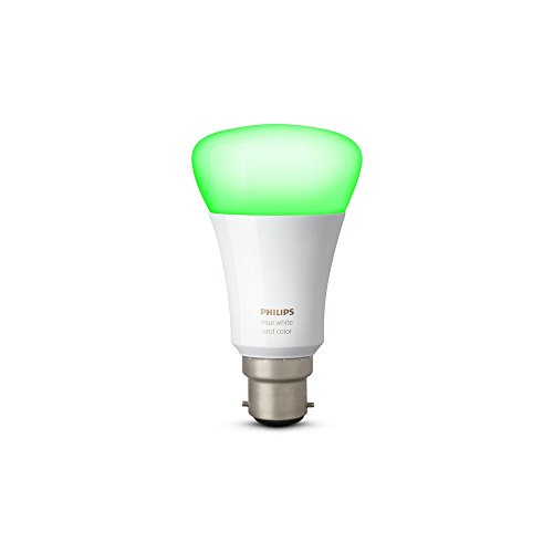 Philips Hue 10W B22 Smart Bulb (White & Color), Compatible with Amazon Alexa, Apple HomeKit, and The Google Assistant