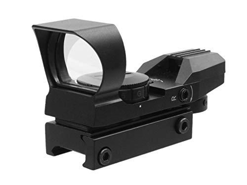 UFC HD106 Multi Reticle Reflex Airsoft Green/Red Dot, mit 20-23mm Weaver Montage - schwarz