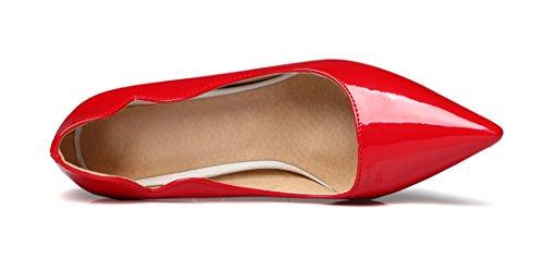 Rossa Sexy A Donne Di Punta Centimetri Spillo A Elegante E Punta Uh 10 Tacco Lusso Alto Chic A Talloni X5EZxgqanw