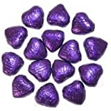 Purple Foil Covered Chocolate Hearts x 100