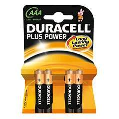 Duracell-plus - 4 piles aAA micro