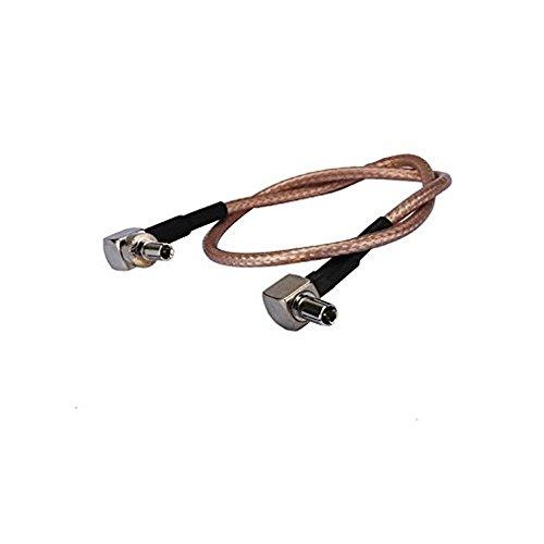 adaptare 61043 15 cm Adapter-Kabel Pigtail TS9- auf CRC9-Stecker gewinkelt für UMTS-/LTE-/3G-/4G-Antenne -