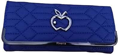 MISMIL Women Girl Blue Wallet Clutch Money Purse