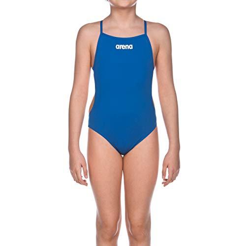arena Mädchen Trainings Badeanzug Solid Lighttech (Schnelltrocknend, UV-Schutz UPF 50+, Chlorresistent), blau (Royal-White), 152