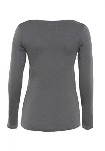 DAILY'S ANN Damen Langarmshirt mit Rundhalsausschnitt aus 100% Bio-Baumwolle - soziale fair trade Kleidung, Mode vegan und nachhaltig Color loft, Size S - 2