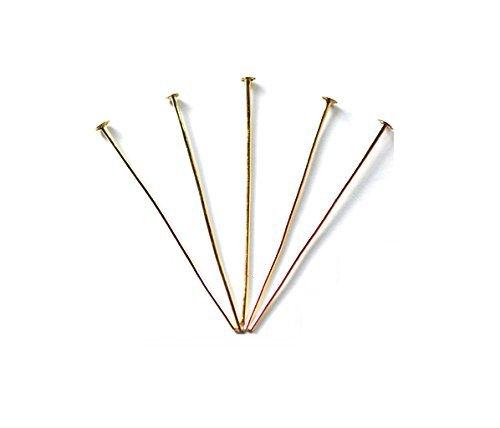 (Accessoire pièces / raccords métalliques) T pin 0.8 x 65 mm couleur or 5 grammes 18 pièces