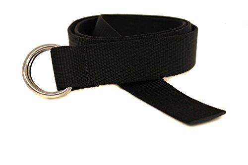 D-Ring Segeln Gürtel Made in USA von Thomas Bates Gr. onesize, schwarz (D-ring-gürtel Klassische)