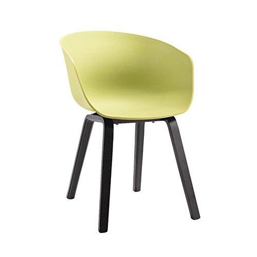 YIXINY Chaise Fauteuil Bois Massif Chaise À Manger Chaise De Bureau PP De Haute Qualité Coussin Simple Loisir ( Couleur : Vert )