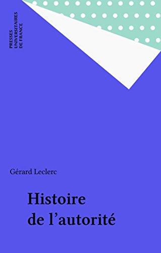 Histoire de l'autorité