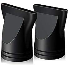 2 boquillas de plástico para secador de pelo, concentrador estrecho de recambio, soplado plano