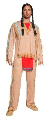 Imagen de smiffy's  disfraz de indio del oeste para hombre, talla m sm36160 m  alternativa