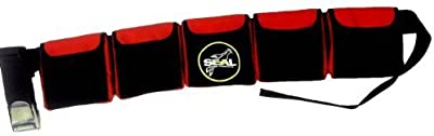 Scuba Diving Pocket weight Belt (5 pocket Red) by Seal