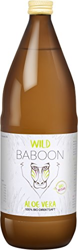 Aloe Vera Bio Saft | Purer Direktsaft zum Trinken | 100 Prozent Aloe Vera Saft aus Blatt Gel | Hoher Wirkstoffgehalt 1200mg/l Aloverose | Zertifiziert - DE-ÖKO-006 | Vegan | 1 Liter