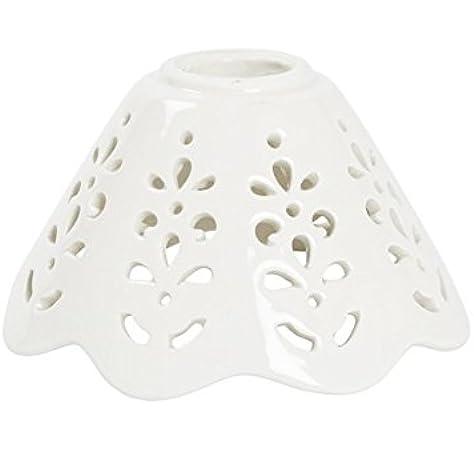 Paralume ceramica bianca traforata di ricambio per applique