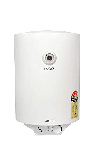 Surya Arctic Geyser Vertical Storage Water Heater, 10l Capacity (White)