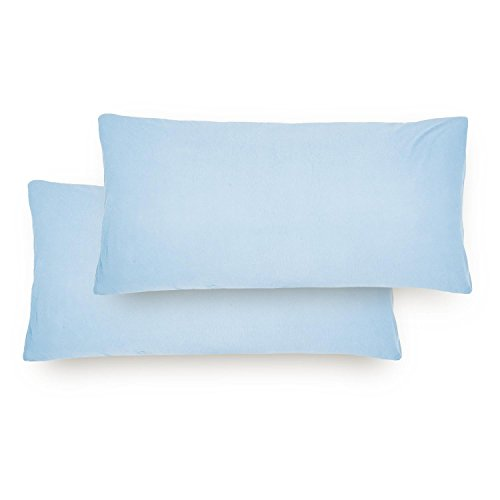 Lumaland Comfort Jersey Kissenbezug 2er Set aus 100% Baumwolle 160 g/m² mit YKK Reißverschluss 40...