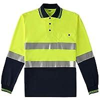 RAINCOAT Fahrradanzug- Reflektierendes T-Shirt, Langärmlige Straßenarbeiter Männer Und Frauen Führungskräfte Reflektierende Kleidung Verkehrssicherheit Kleidung -Regenmantel (größe : S)