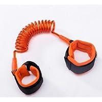 Wiwi.f [2.5 m Naranja niño Anti-perdida con Cuerda de tracción bebé niño Cuerda de Seguridad Anti-perdida Anti-perdida Pulsera Cuerda Anti-perdida