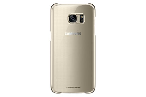 Samsung Galaxy S7 Edge Case Clear Protective Cover - Gold