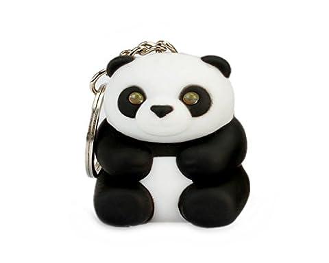 WODEJIAYUAN Neuheit-nette Panda LED KeyChain Schlüsselring-Fackel mit Licht u. Stichhaltigem Ton KeyChain Schlüsselring, der für Beutel hängt