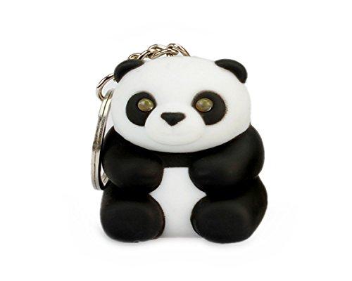 wodej iayuan della novità Carino Panda LED portachiavi portachiavi anello della torcia con luce e Stich haltigem tono Portachiavi Portachiavi anello, der per Jogging dipende
