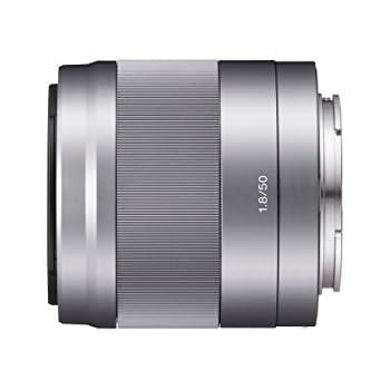 Sony SEL-50F18 Porträt-Objektiv (Festbrennweite, 50 mm, F1.8, APS-C, geeignet für A6000, A5100, A5000 und Nex Serien, E-Mount, silber