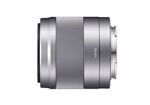 Sony SEL50F18, Porträt-Objektiv (50 mm, F1,8 OSS, E-Mount APS-C, geeignet für A5000/ A5100/ A6000 Serien& Nex) silber Sony A5100 Kamera Und A6000