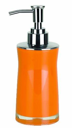 Spirella colección Sydney, dispensador de jabón líquido 18,5 x 7,0 x 7,0 cm, acrílico, Naranja, 18.5 X 7.0 X 7.0 Cm