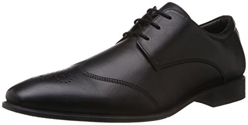 Hush Puppies Men's Fred Black Leather Formal Shoes - 9 UK/India (43 EU)(8246960)