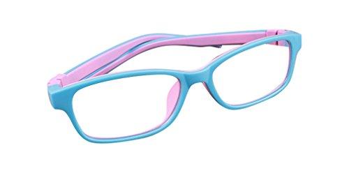 De Ding Kinder Silikon Optische Kurzsichtige Brillen Rahmen blau pink