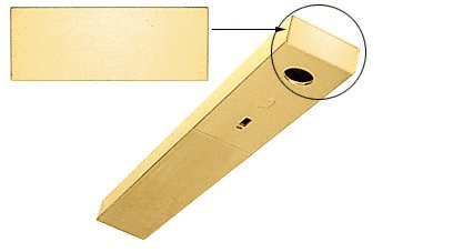 CRL Satin Brass End Cap With Screws for Use With 1-3/4