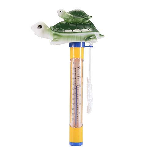 ZXX Schwimmende Pool Thermometer mit Tier Motiv für Badewanne und Pool, Baby Pool Karikatur Wasser-Thermometer für Outdoor & Indoor (Schildkröte) -