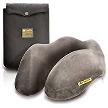 Graues Reisekissen Nackenkissen Travel Blue 211 - aus einem ergonomischen, bequemen Memory-Schaumstoff - ein flauschiges Reisezubehör für den perfekten Schlaf
