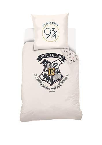 Warner Bros. Harry Potter Bettwäsche, weiß, 135x200 cm