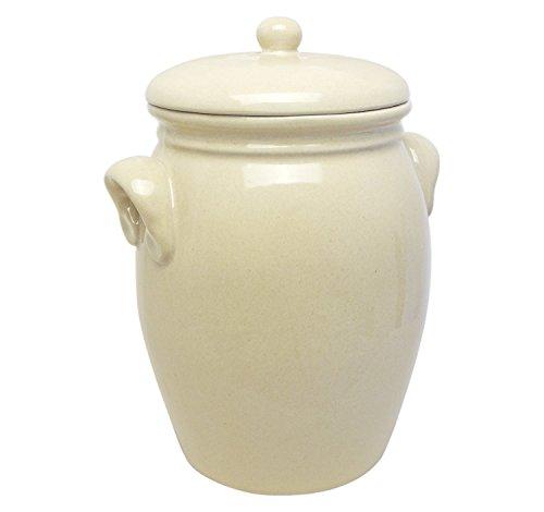 Original K&K Stoneware Rum Pot 5.0 Litres [Shape Type 2] Beige by K&K Keramik