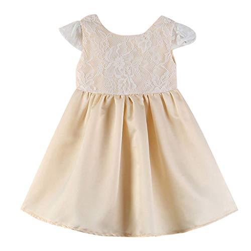 squarex Kleinkind Kinder Baby mädchen Outfits Kleidung Spitze Patchwork Backless Party Prinzessin Kleider Nette Bequeme beiläufige