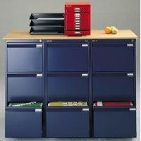 Bisley 1633-ap9-801 101.6x47x62.2cm BS Flush Front Filing Cabinet - Oxford Blue