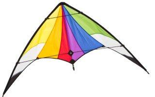 Lenkdrachen Komplett-Set, Orion Rainbow, Anfänger Drachen von HQ-Invento + Positions-/ Windfähnchen
