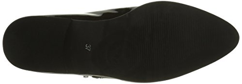 Bianco Damen Cbe Patent Zip Shoe 25-49007 Durchgängies Plateau Ballerinas Schwarz (Black/10)