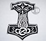Thors Hammer Mjölnir Wikinger Jacke Eisen nähen auf bestickt Patch (xpoglobal)